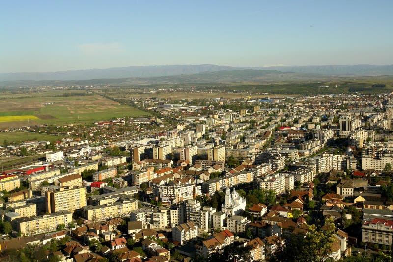 Vista generale della città fotografie stock