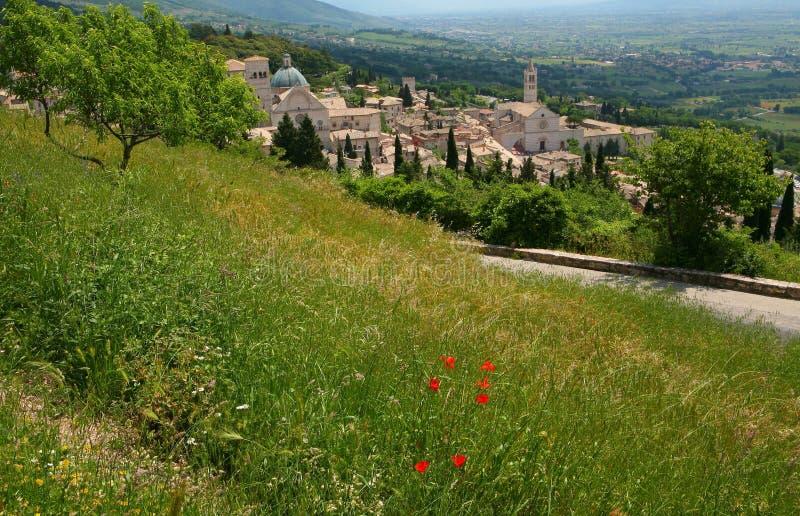 Vista generale di Assisi fotografia stock