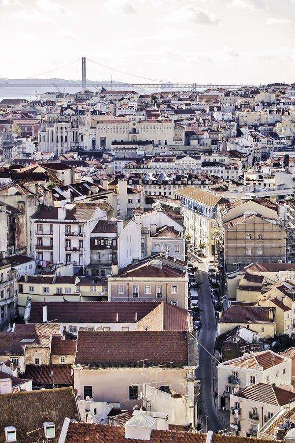 Vista Generale Di Lisbona Immagine Stock