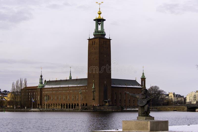 Vista generale di municipio, Stoccolma immagine stock libera da diritti