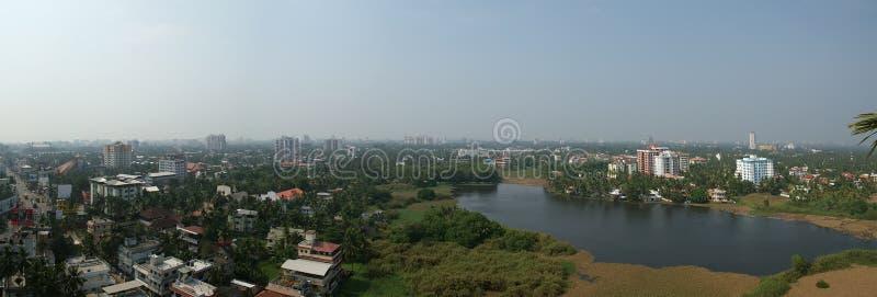 Vista geral da cidade, Cochin (kochi), Kerala, Índia sul fotos de stock