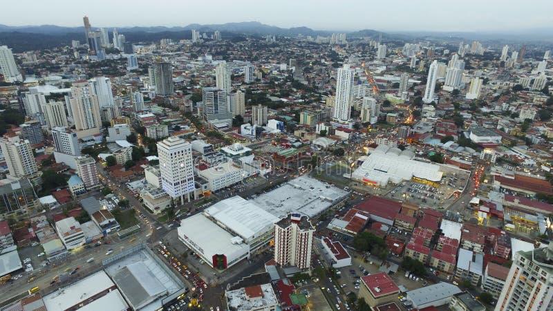 Vista geral da cidade de Panamá imagens de stock