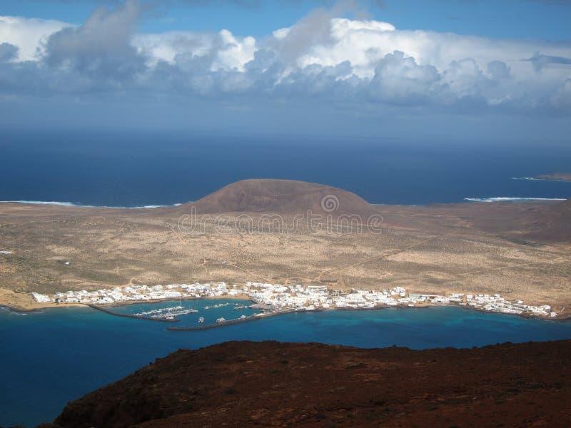 Vista geral da ilha do La Graciosa imagem de stock
