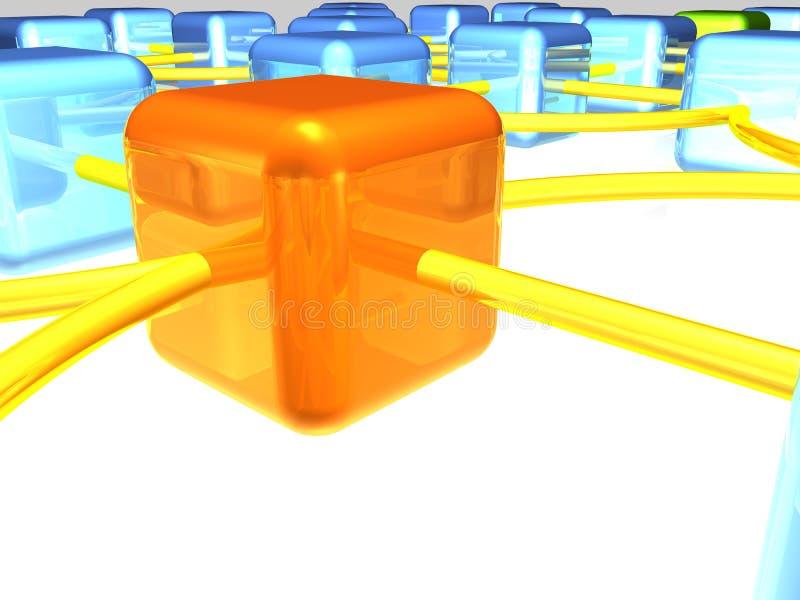 Vista geral da rede ilustração do vetor