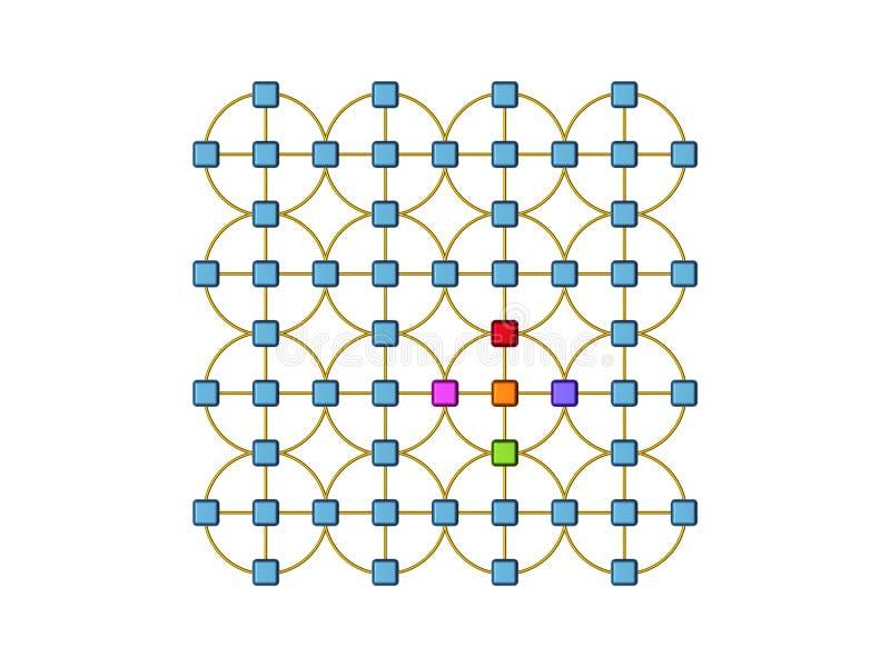Vista geral da rede ilustração royalty free
