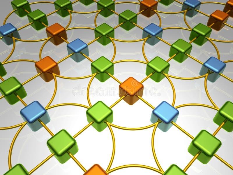 Vista geral da rede - caos ilustração royalty free