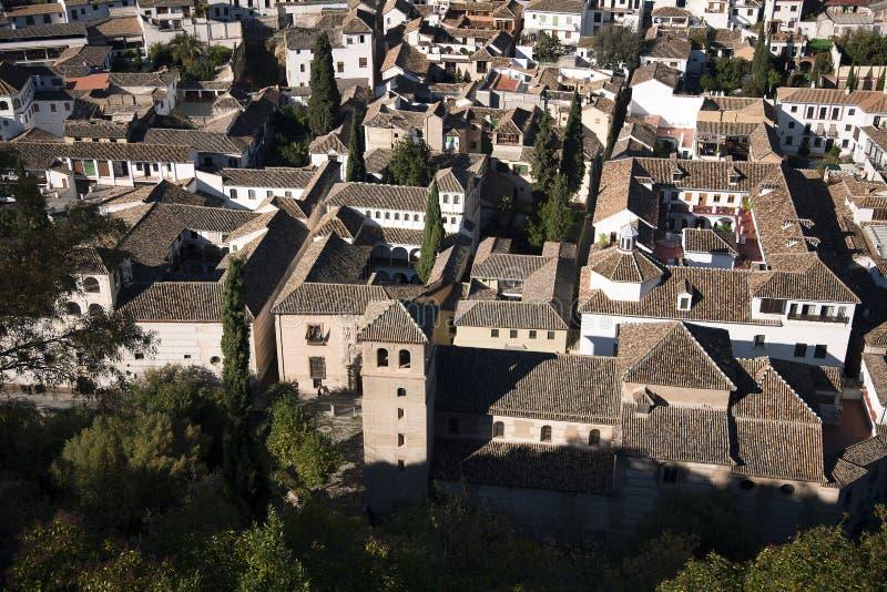 Vista geral de Albaicin do Alhambra imagem de stock royalty free