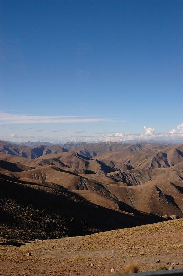 Vista geral de Andes imagem de stock
