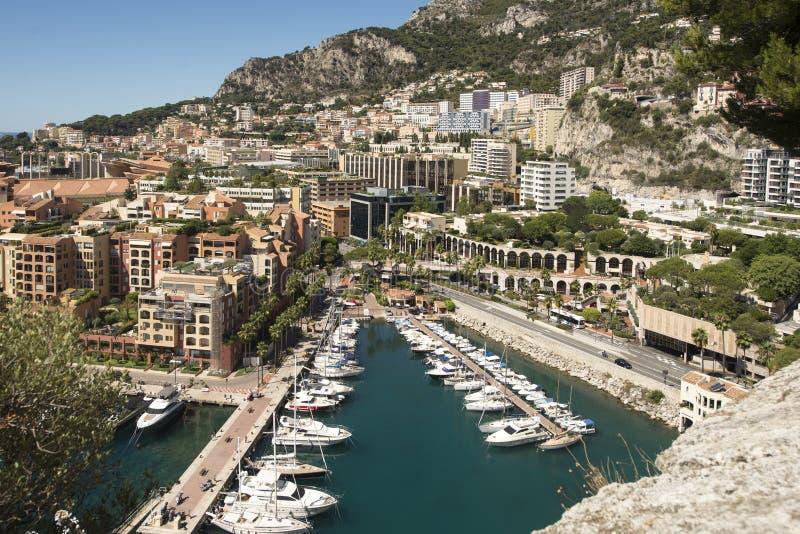 Vista geral de Fontvieille, Mônaco fotos de stock