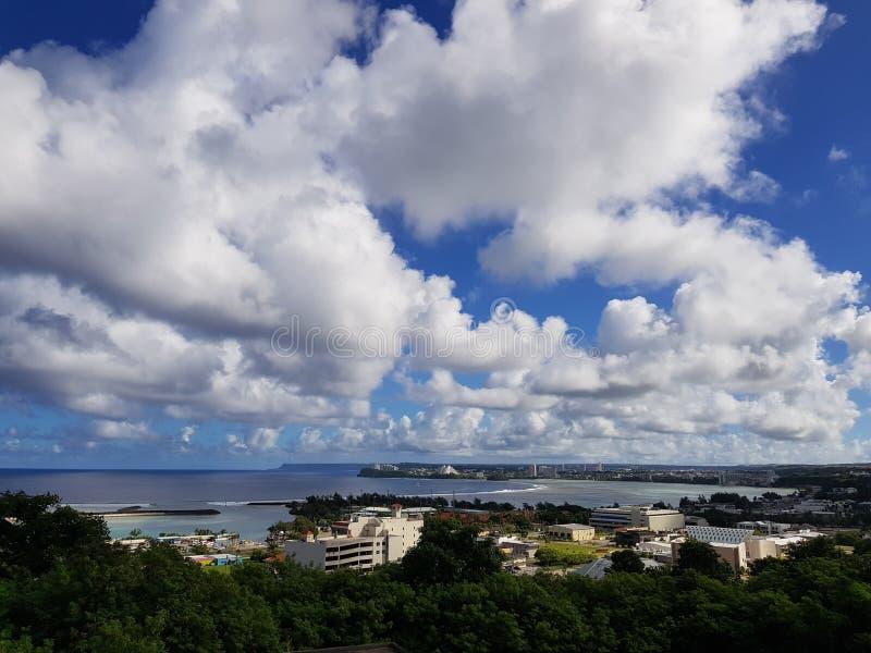 Vista geral de Guam imagens de stock