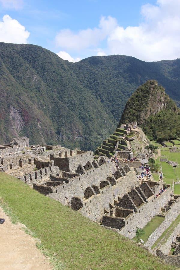 Vista geral de Machu Picchu imagens de stock