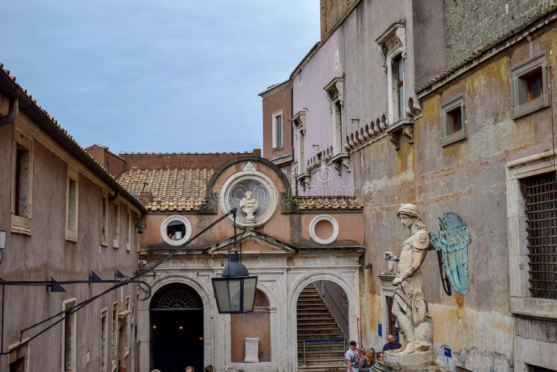 Vista geral de Sant 'Angelo Castle Italy fotos de stock royalty free