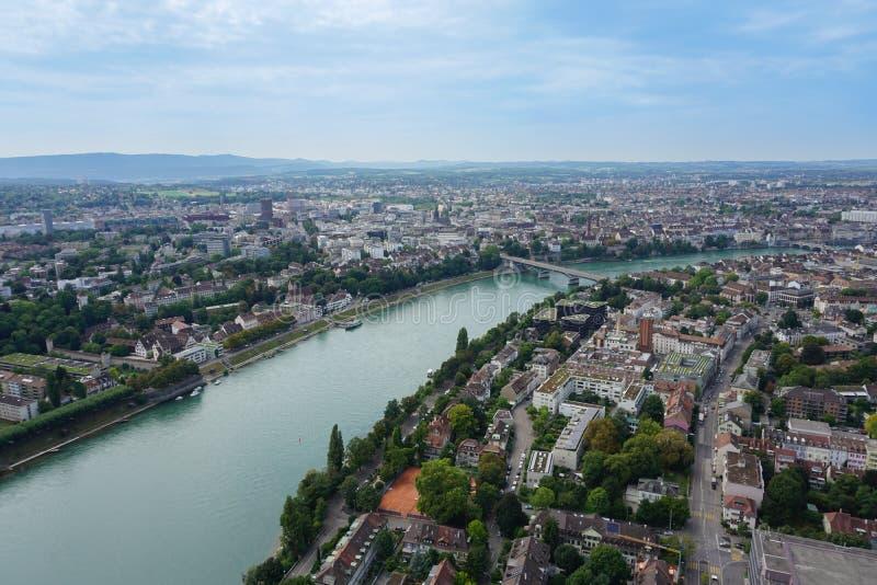 Vista geral de Suíça de Basileia fotografia de stock royalty free