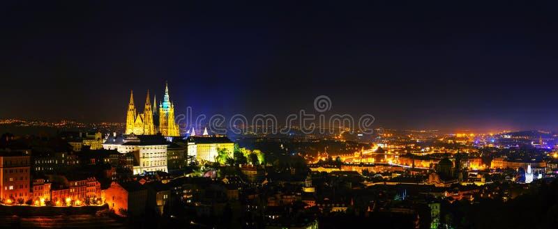 Vista geral panorâmico de Praga imagem de stock royalty free