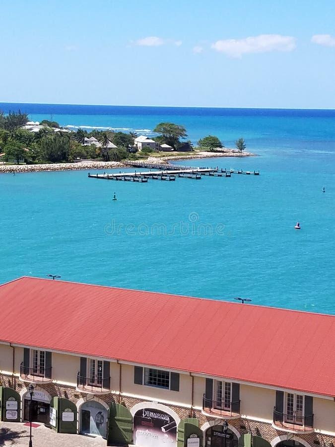 Vista Giamaica di crociera fotografia stock