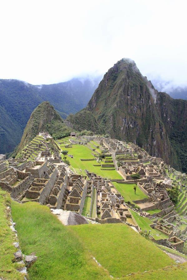 Vista globale di Machu Picchu fotografie stock
