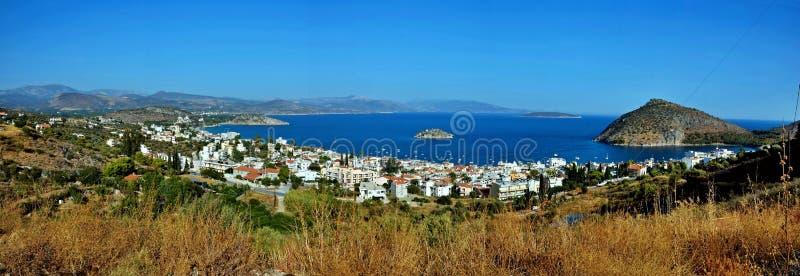 Vista Grécia-panorâmico na cidade Tolo foto de stock