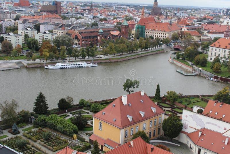 Vista grande hermosa de Wroclaw foto de archivo libre de regalías