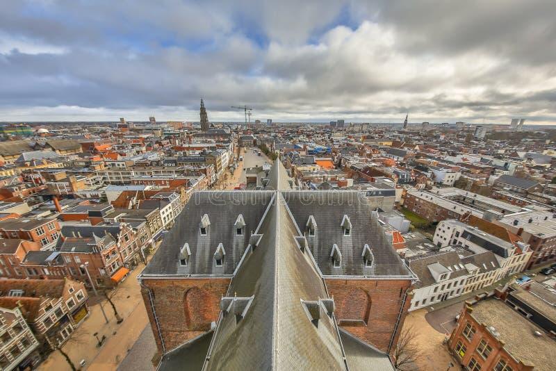 Vista Groninga della città fotografia stock libera da diritti
