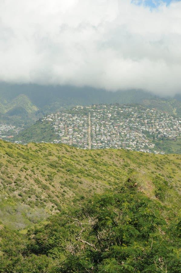 Vista havaiana fotografia de stock