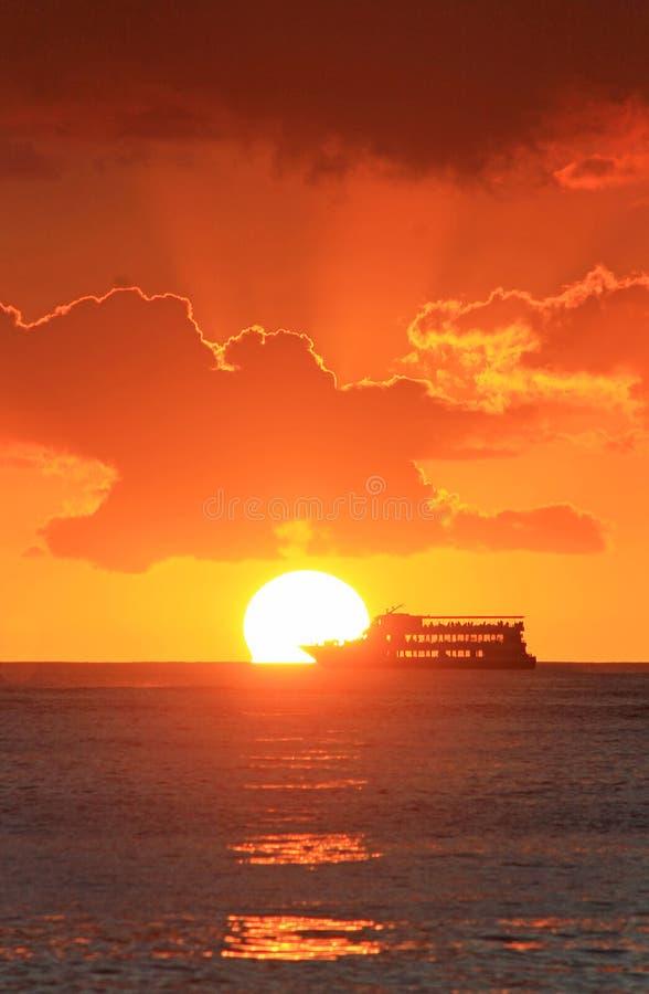 Vista hawaiana dell'oceano fotografie stock