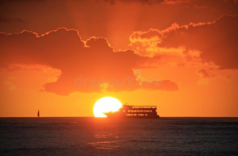 Vista hawaiana dell'oceano immagini stock libere da diritti