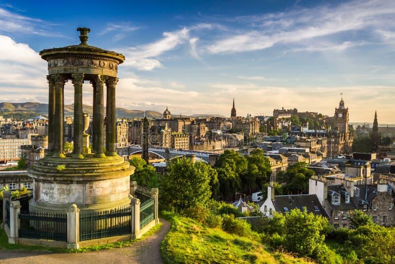 Vista hermosa de la ciudad de Edimburgo foto de archivo libre de regalías