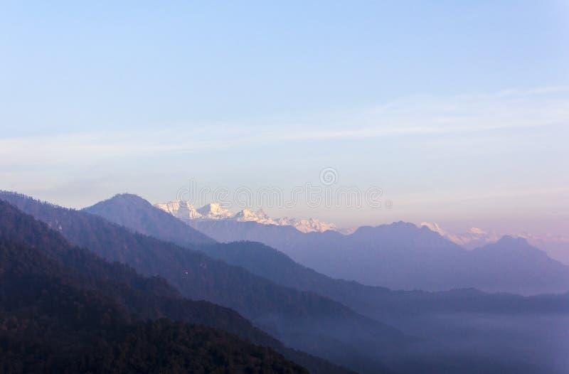 Vista himalayana immagine stock