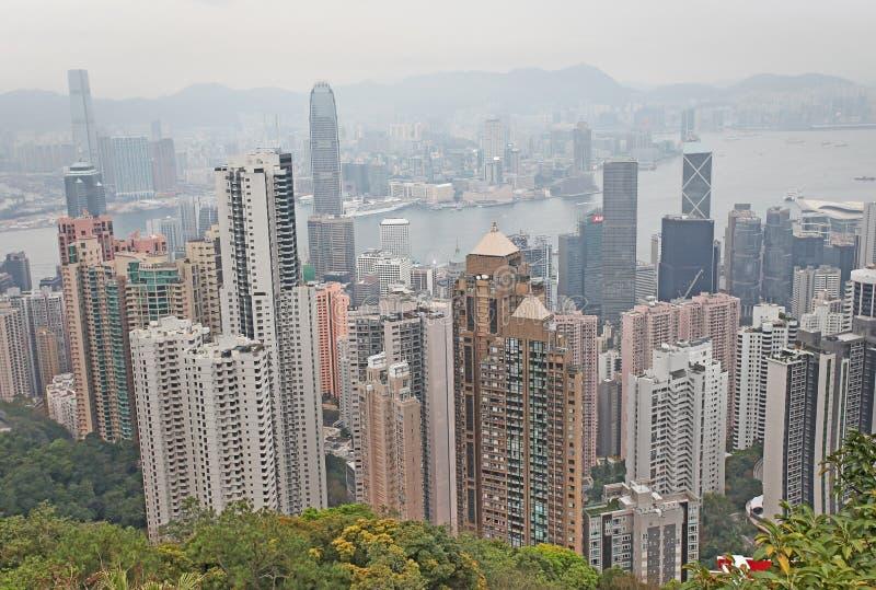 Vista a Hong Kong da Victoria Peak fotografia stock libera da diritti