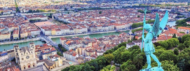 Vista horizontal de Lyon imagen de archivo libre de regalías