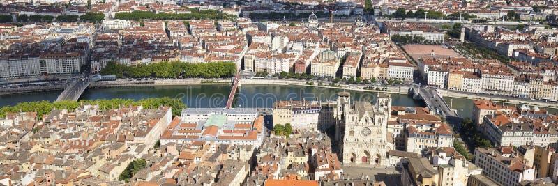 Vista horizontal de Lyon fotografía de archivo