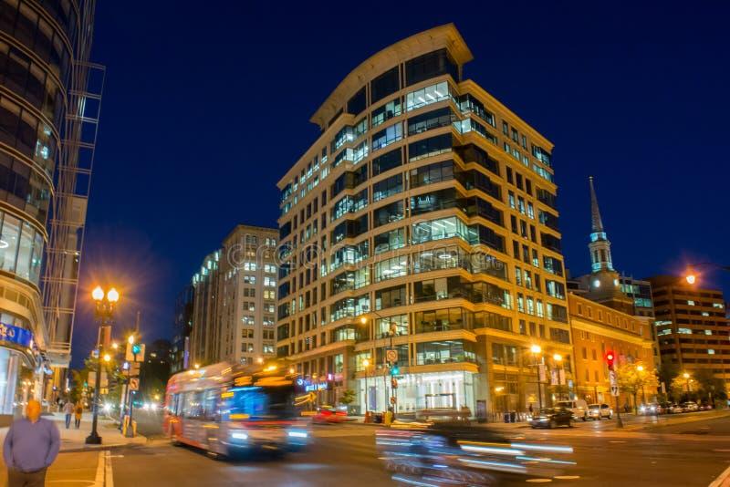 Vista horizontal do Washington DC na hora azul após os sóis fotos de stock