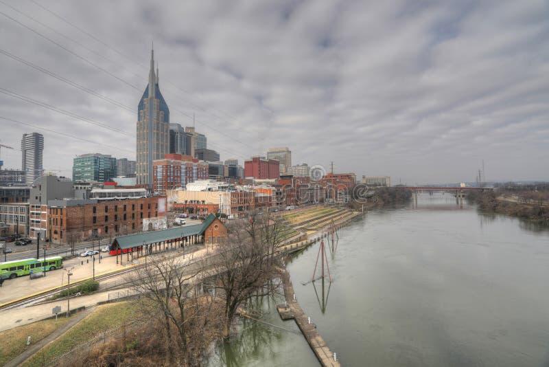 Vista horizonte de la Nashville, Tennessee imagenes de archivo