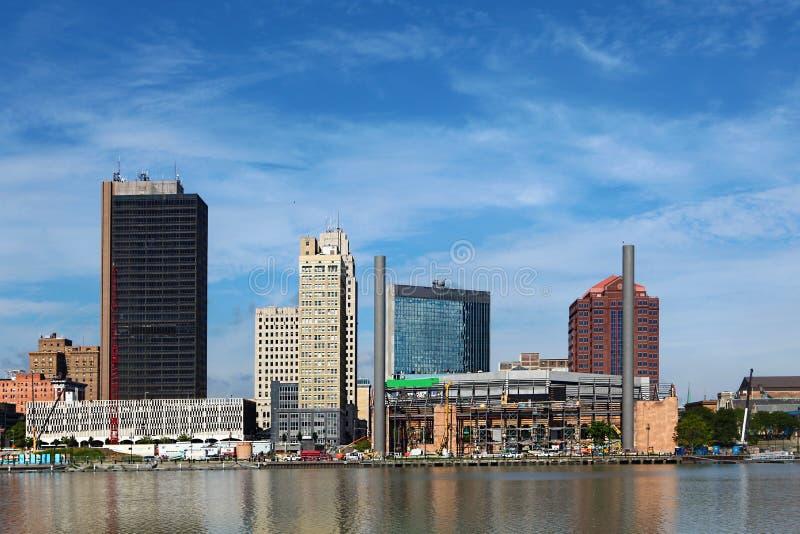 Vista horizonte del Toledo, Ohio imágenes de archivo libres de regalías