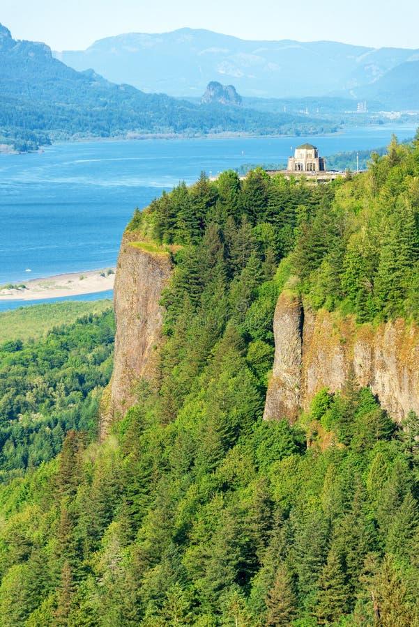 Vista House and Columbia River Gorge stock photos