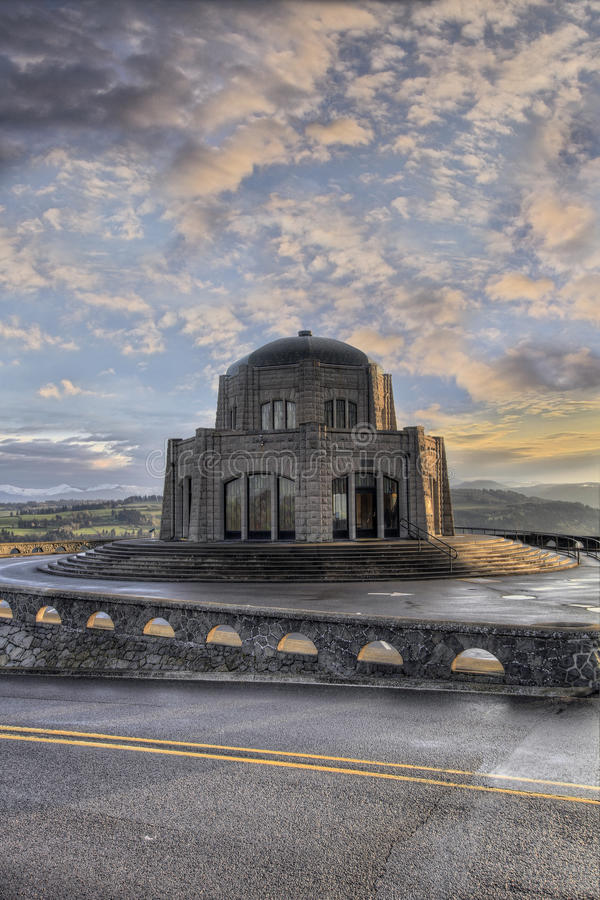 Download Vista House On Crown Point 3 Stock Image - Image: 13840221