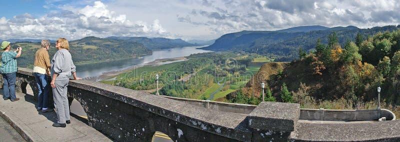 Vista House Viewpoint Panorama stock photos