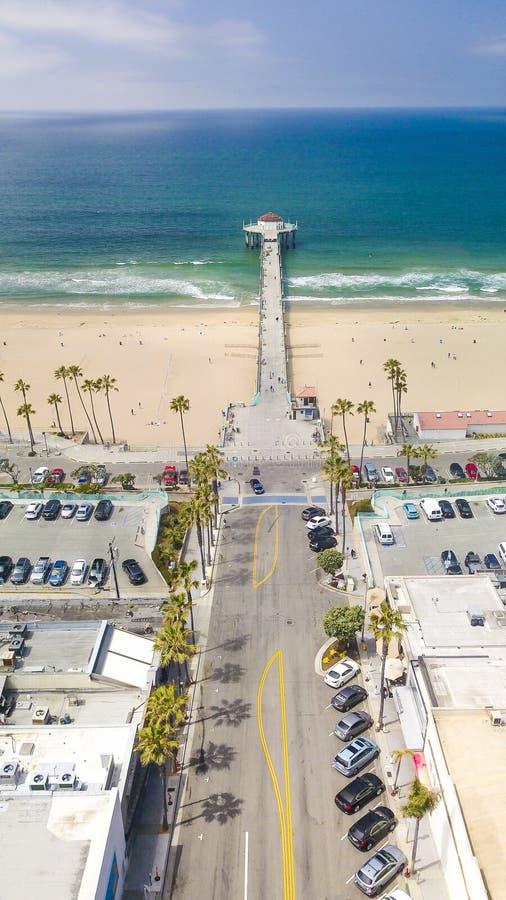 Vista impressionante del pilastro Manhattan Beach immagini stock libere da diritti