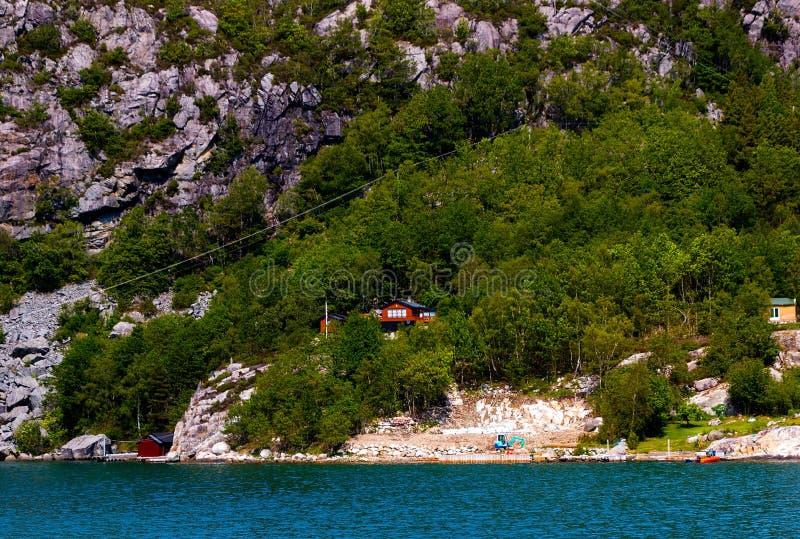 Vista impressionante do Lysefjord em Noruega imagem de stock royalty free