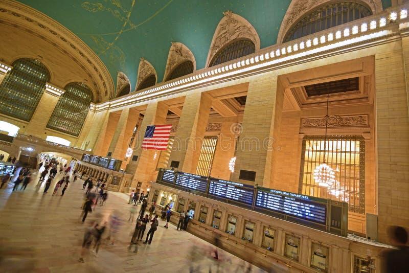 Vista inclinata del terminale New York di Grand Central immagini stock libere da diritti