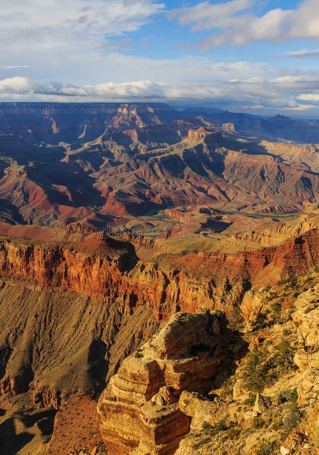 Vista increíble de Grand Canyon del borde del sur, Arizona, los E.E.U.U. imagen de archivo