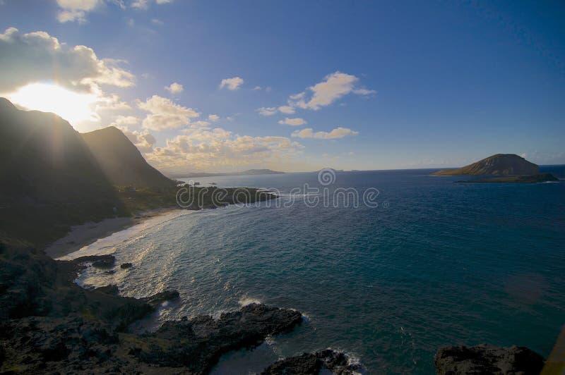"Vista incredibile spiaggia di u del Makapu "" immagini stock"