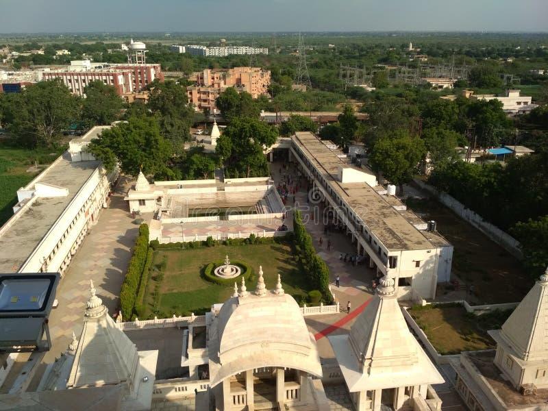 Vista indiana Mathura del tempio fotografia stock