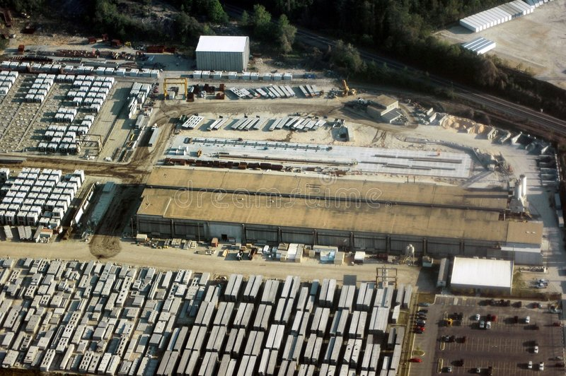 Vista-Industrial aéreo imagens de stock