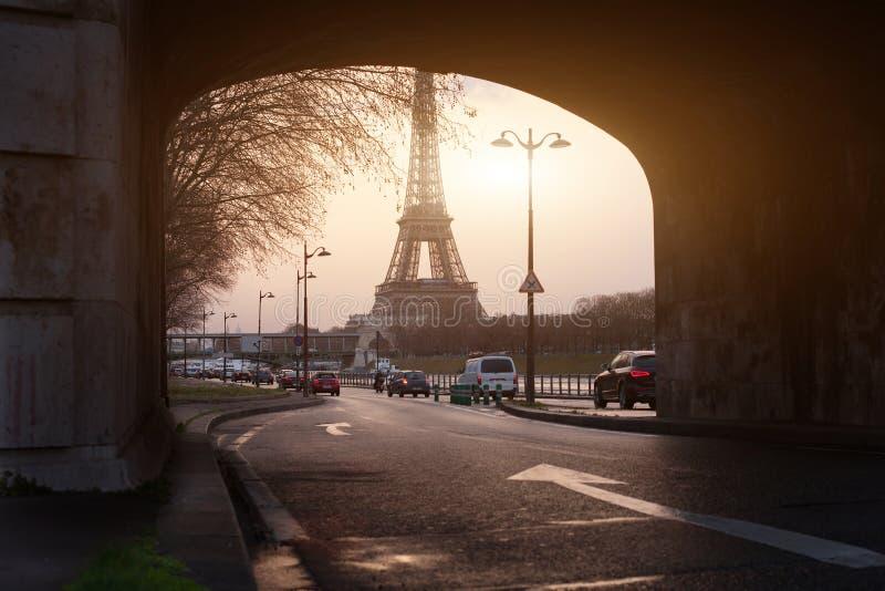 Vista insolita di Parigi fotografia stock libera da diritti