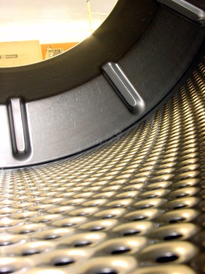 Vista interior de giro da máquina de lavar. fotografia de stock royalty free