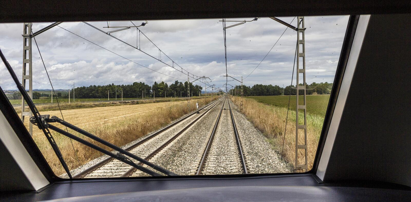 Vista interior de la cabina del tren foto de archivo libre de regalías
