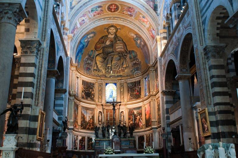 Vista interior de la catedral de Pisa. imagenes de archivo