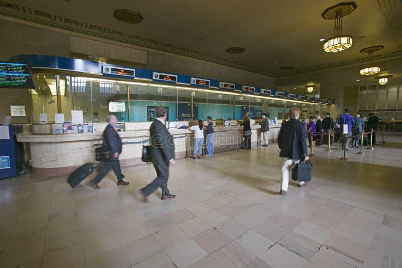 Vista interior de las trigésimas cabinas de la estación y de boleto de la calle, un registro nacional de lugares históricos, esta fotos de archivo