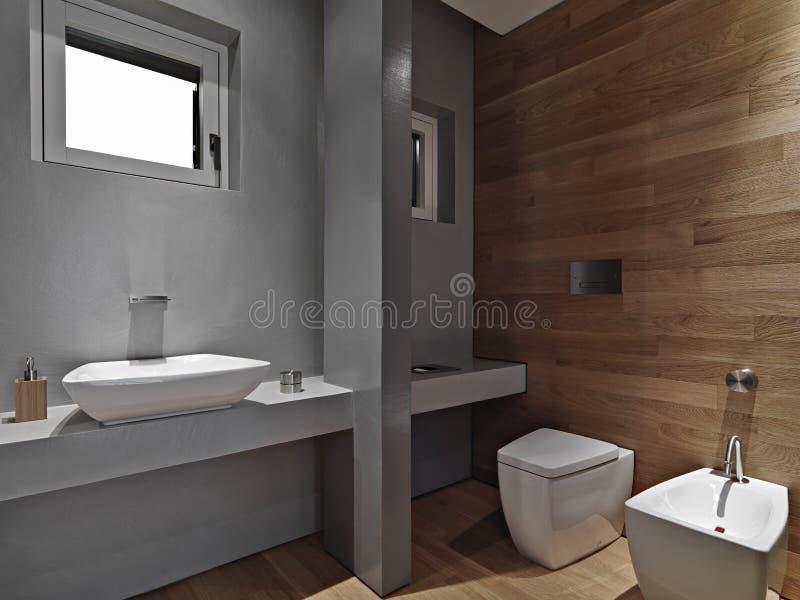 Vista interior de um banheiro moderno imagens de stock royalty free